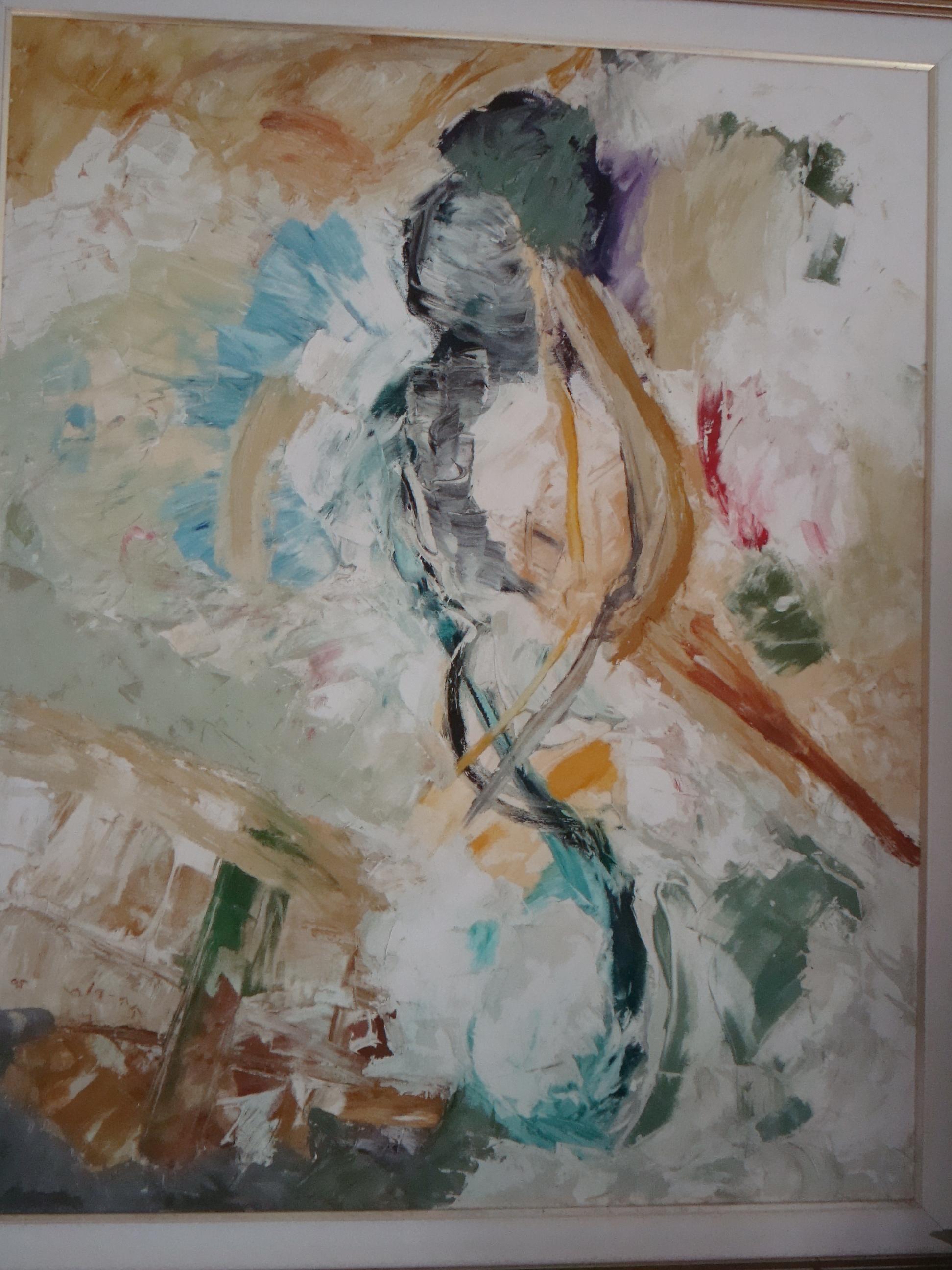 """""""זה לא אבסטרקט,  זה את ואני פה בציור"""" ציירה חנה רות טל"""